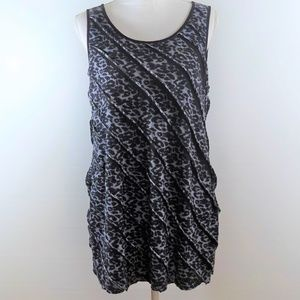 STYLE & CO Women's Blouse - Black Leopard - Size L
